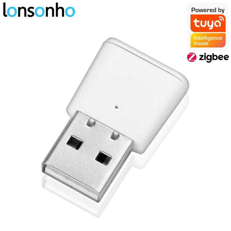 Lonsonho Tuya Zigbee Signal Repeater USB Zigbee Hub Signal Expand 20-30M Smart Home Automation Module