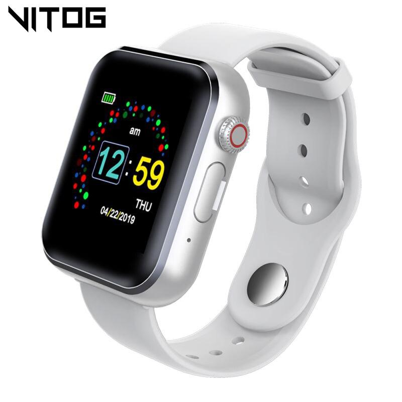 VITOG multifunción reloj inteligente compatible con tarjeta SIM TF reproductor de música reloj inteligente Monitor de sueño recordatorio de llamadas reloj para iOS Android