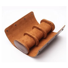 3 Slots Watch Roll Travel Case Chic Portable Vintage Leather Display Watch Storage Box with Slid in