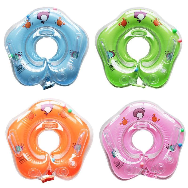 Anillo para nadar para cuello piscinas para bebé, accesorios para bebé, flotador inflable para baño infantil para recién nacido, flotador circular de seguridad para el cuello