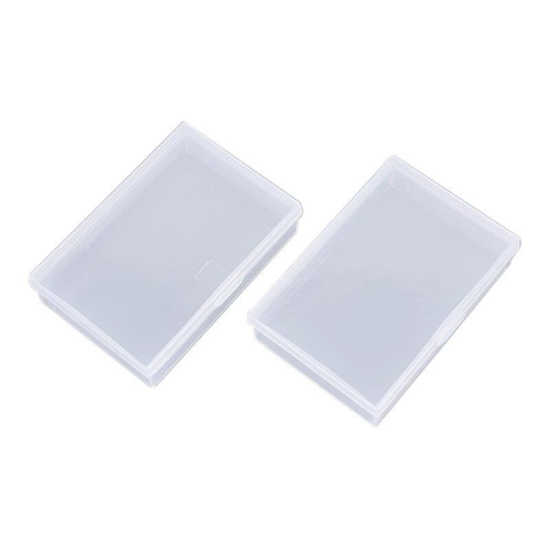 2 pçs/set Caixa de cartas de Baralho de Plástico Transparente Recipiente De Armazenamento Caso Caixa de Cartão de Jogo de Poker Mesa de armazenamento do jogo de Entretenimento