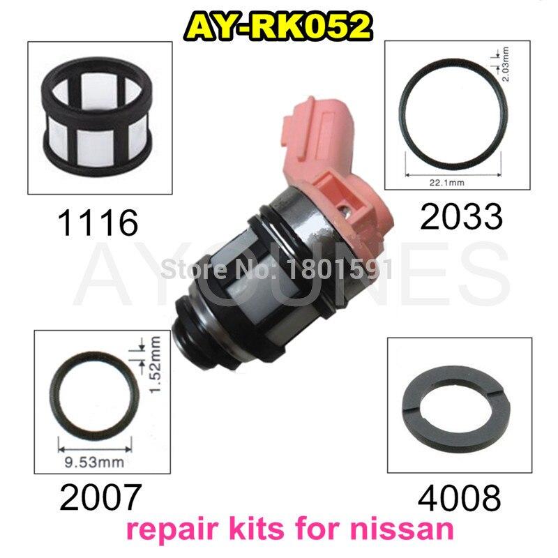 Kits de reparación de inyectores de combustible para inyección de combustible 16600-9S200 16600-1B000 para Nissan JS23-4 Repalce parts (AY-RK052)