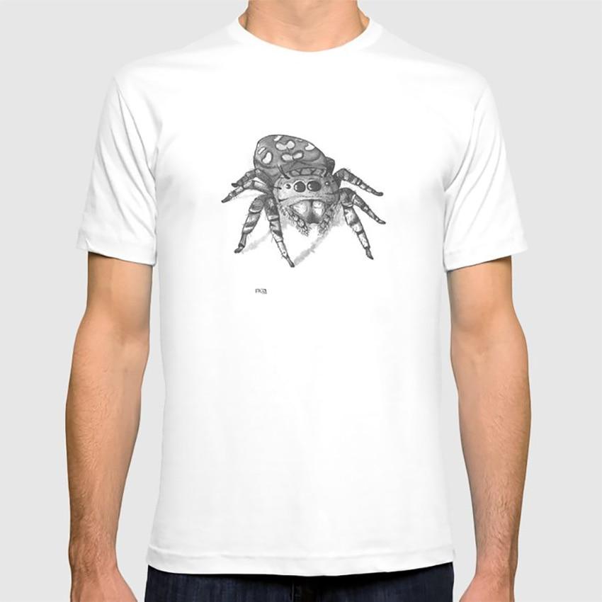 Inktober 2016 camiseta de araña saltarina araña lúpulo pequeño Inktober insectos arácnido