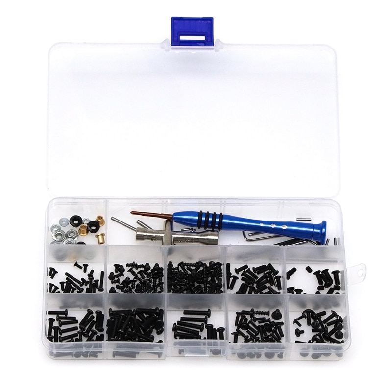 1 Box Screws + Installation Tool + Swing Arm Pin + Flange Sleeve Kit for Wltoys 1/14 144001 Remote Control Car RC Car Model Part enlarge