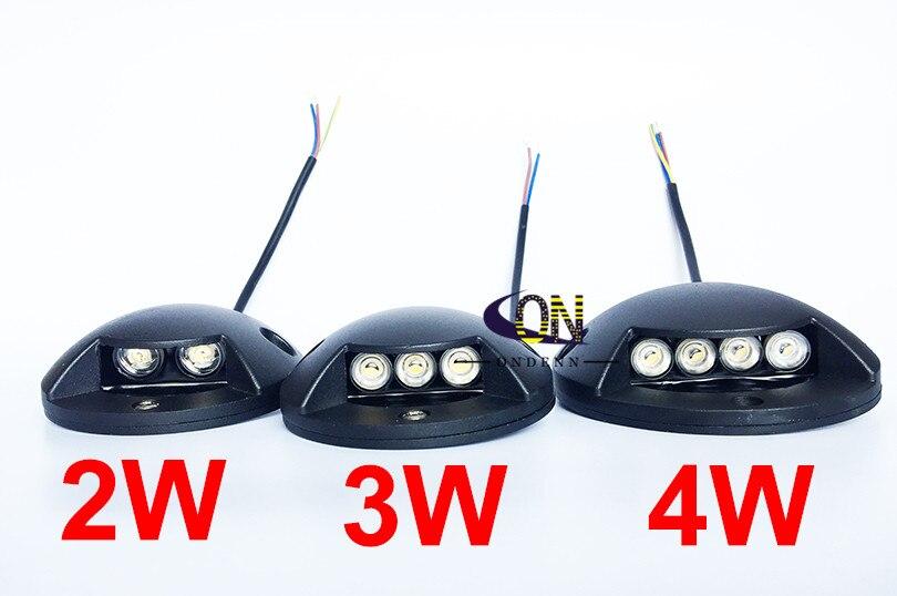 2W 3W 4W DC12V AC85-265V lámpara enterrada pie luz de camino puente de luz de carretera lámpara de pie de jardín iluminación de escalera