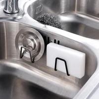Etagere adhesive en acier inoxydable  organisateur devier de cuisine  salle de bains  porte-torchon pour porte-serviettes