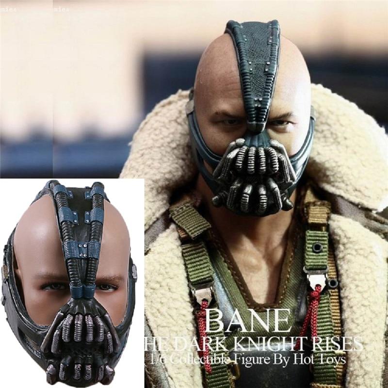 Bane Mask Dark Knight Horror Mask Halloween Costume Bane Helmet Mask Latex Adult Cosplay Props for Halloween ptygo mask of gorilla chimpanzee costume orangutan head for halloween party christmas horror animal latex mask