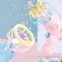 summer automatic magic bubble blower machine bubble shooter toy fan bubble maker gun wedding supplies outdoor toys