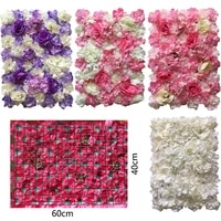 hot flower wall 40x60cm silk rose artificial flowers wedding decoration high quality romantic for wedding background decoration