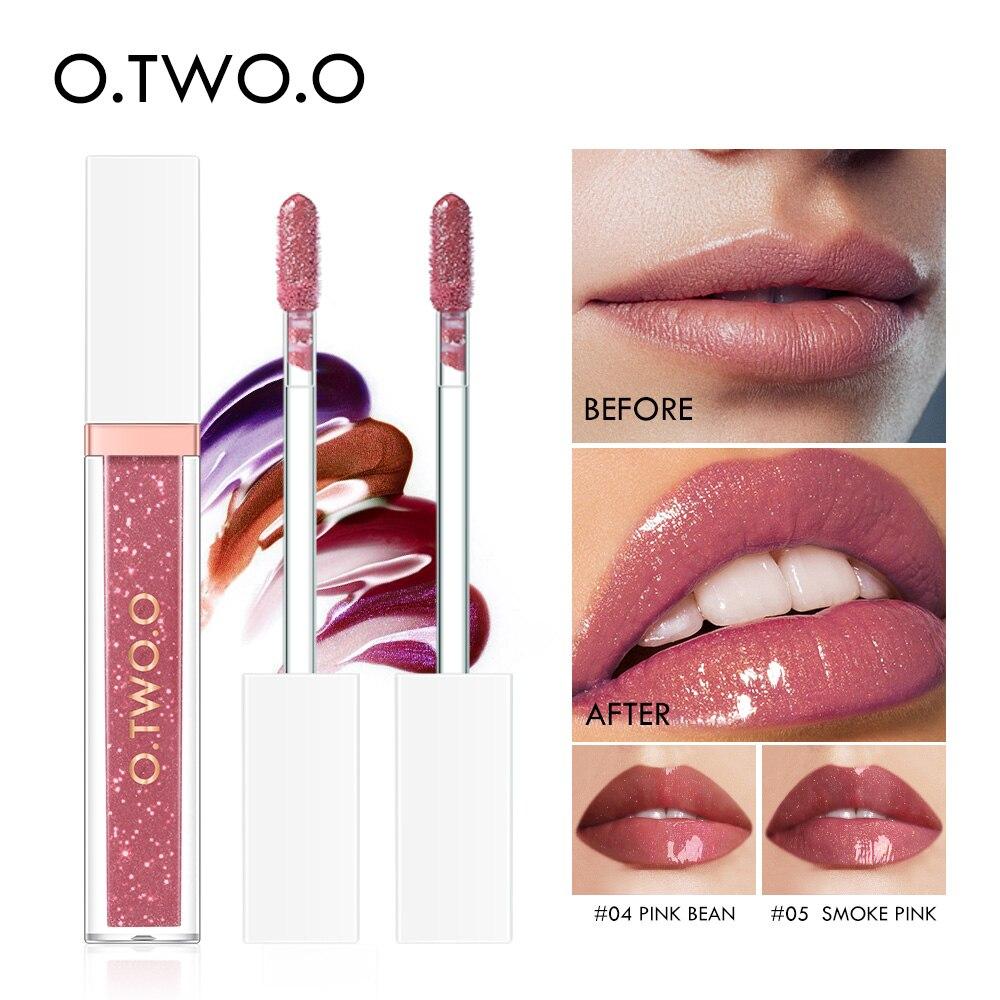 O.TWO.O Spiegel Glas Lip Gloss Feuchtigkeits Licht Gel Keine Klebrigen Schimmer Lippenstift Flüssigkeit Make-Up 7 Farbe Lipgloss maquiagem