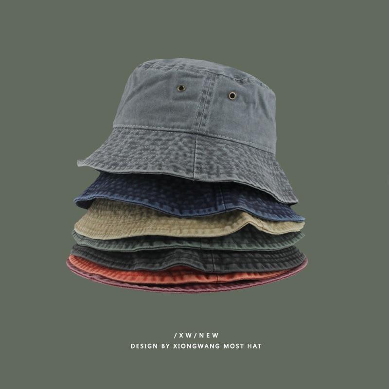 Однотонная женская Рыбацкая шляпа, уличная Солнцезащитная шляпа, четыре сезона, модные Панамы для влюбленных