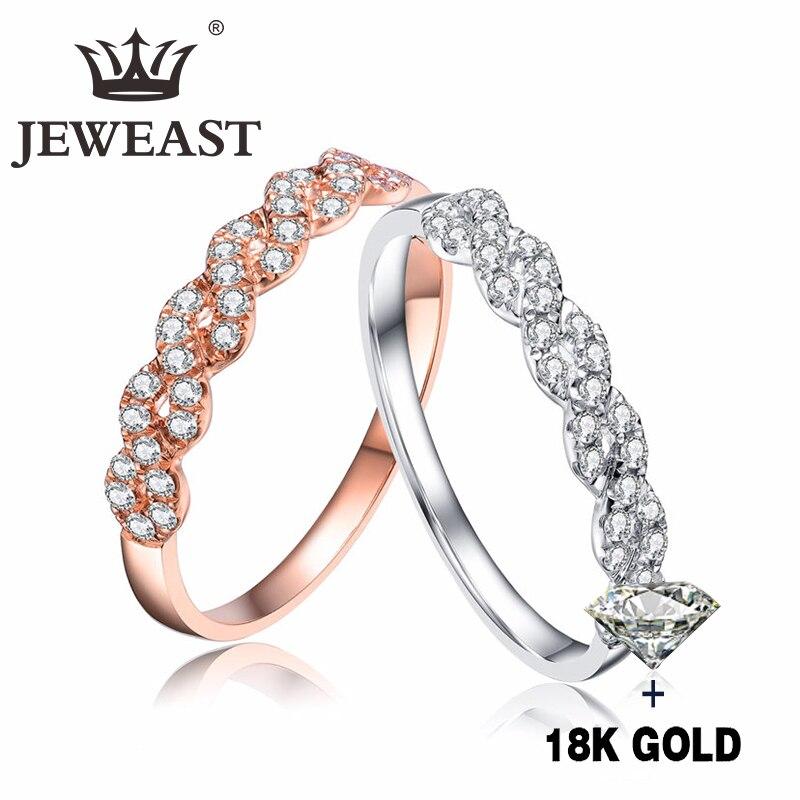 خاتم الماس الطبيعي 18K الذهب الخالص خاتم الأحجار الكريمة الجميلة حسن الراقي العصرية الكلاسيكية حفلة غرامة مجوهرات رائجة البيع جديد 2020