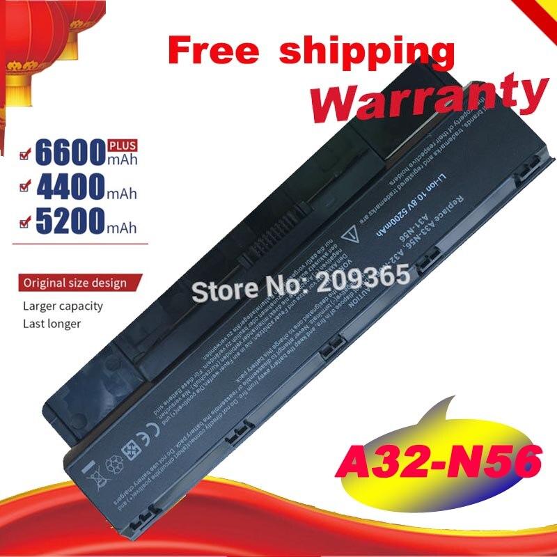 6Cell Battery for Asus N46 N46V N56 N56V N56VZ N76 N76V A31-N56 A32-N56 A33-N56