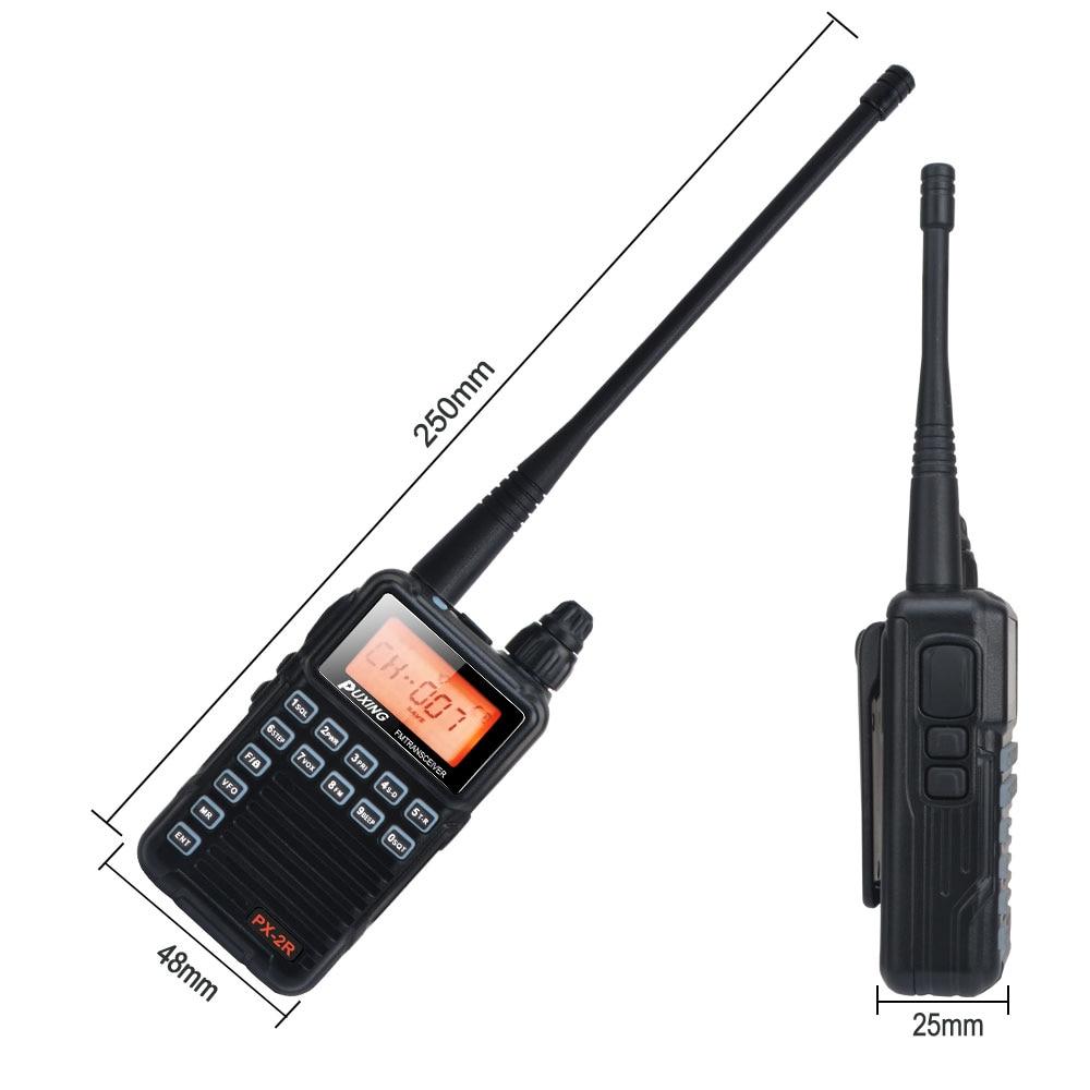 PX-2R VHF Mini Compact FM VOX Walkie Talkie 136-174MHz Single band Transmission, VHF UHF dual band reception 2W PX Radio enlarge