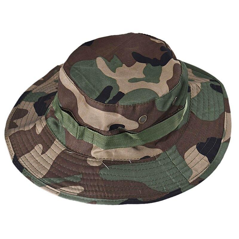 Sombrero militar, sombrero de cubo, Boonie, gorra ancha para pesca al aire libre, gorra de caza Unisex, Airsoft, Camuflaje, sol, sombrero de senderismo 10,31