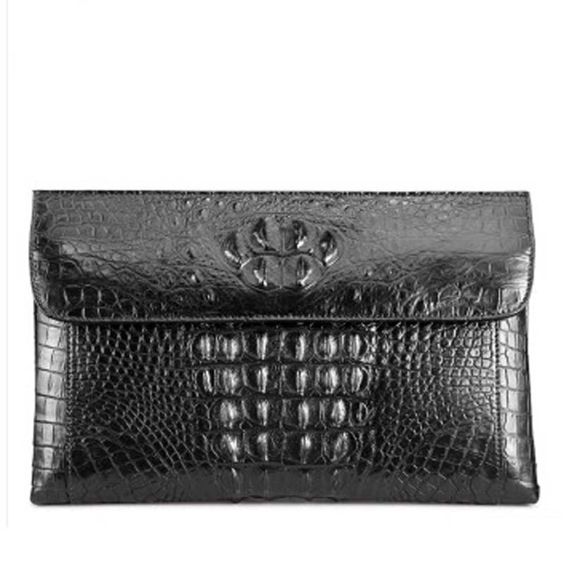 fasiqi new crocodile leather fashion men's clutch bag large capacity business hand bag male grab bag men envelope bag