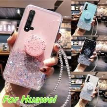 Coque pour Huawei P40 P20 Lite P30 Pro Mate 30 Lite housse sur Honor 20s 9X 8X 10i 20i P Smart 2019 nova 6 5i 5t housse paillettes