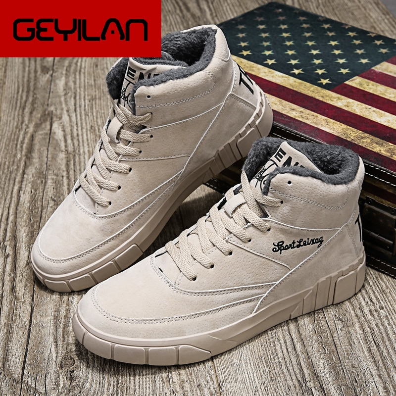 Botas Hombre Men Boots Winter Booties Ankle Plush Warm Shoes Man Casual Sneakers Top Brand Male Foot