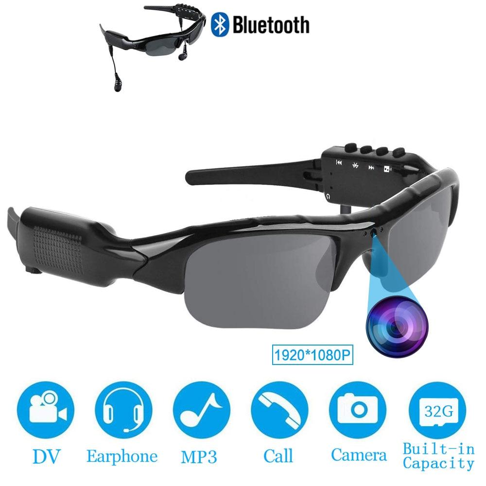 New Smart HD 1080P 32GB Polarized Lens Mini Sunglasses Camera Multifunctional Bluetooth MP3 Player Sports DV Video Recorder