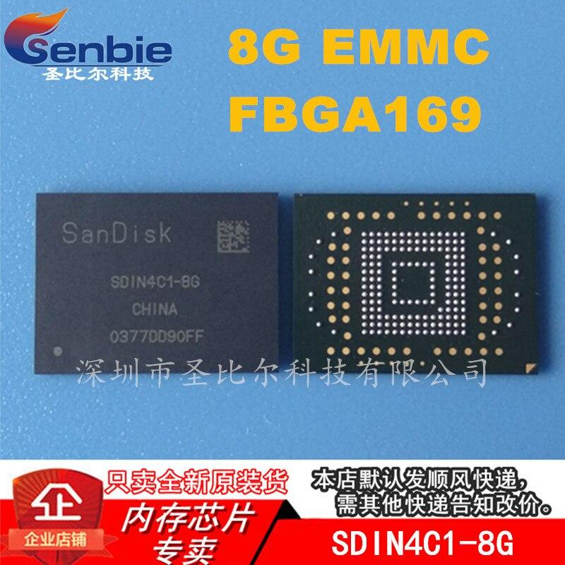New10piece SDIN4C1-8G BGA169 8G EMMC Memória IC