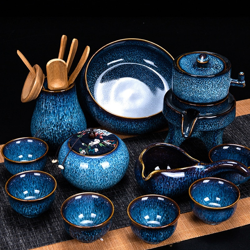 UNTIOR التلقائي بالكامل ونقية اليدوية طقم شاي من السيراميك مكافحة السمط تصميم التلقائي الدورية إبريق الشاي عالية الجودة مجموعة الشاي