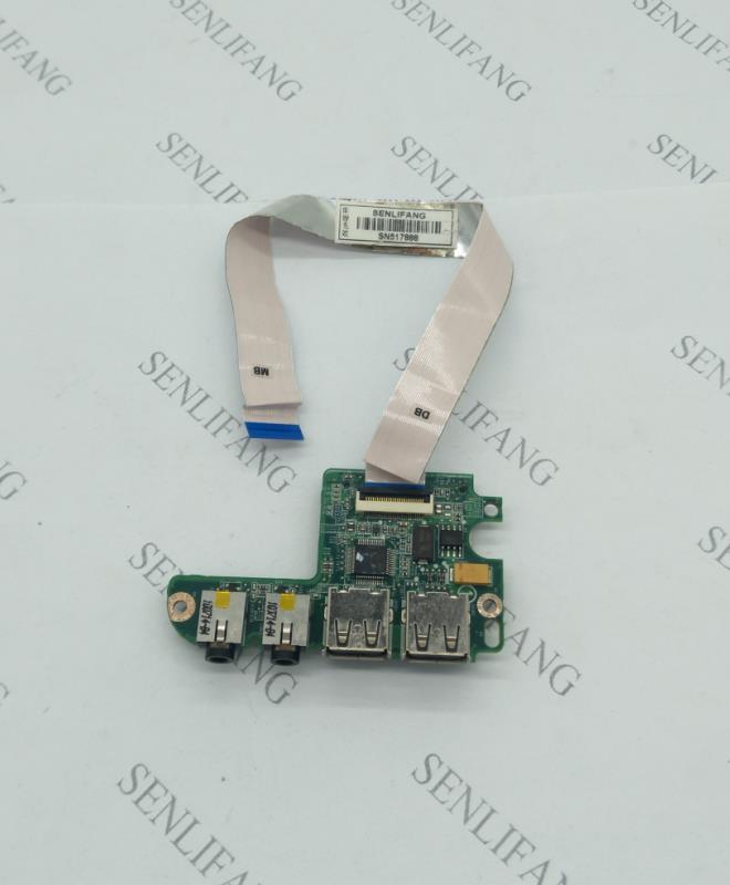 Envío Gratis para dell Inspiron 1464 1564 1764 placa hija placa con puertos Usb tarjeta de Audio 1764 Y5XYF 0Y5XYF con cable