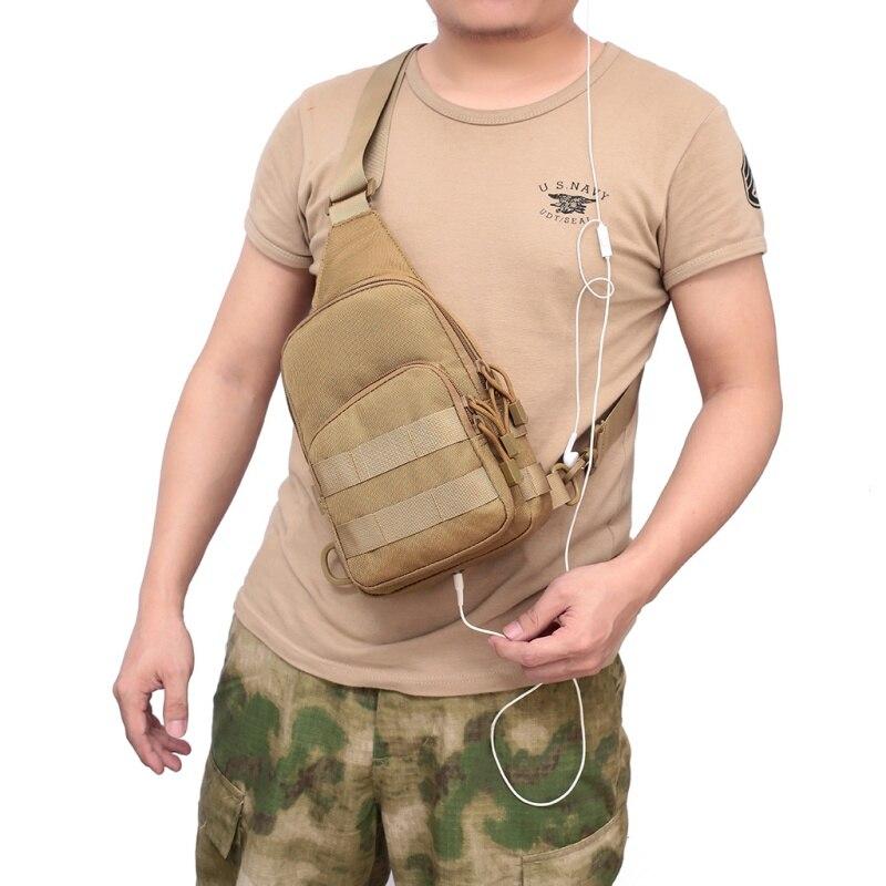 Новая военная нагрудная сумка для активного отдыха, портативная Диагональная Сумка для скалолазания, рюкзак на одно плечо для спорта, кемпинга, пешего туризма