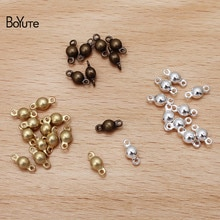 BoYuTe (100 أجزاء/وحدة) 3 مللي متر المعادن صمام كرة نحاسية موصل السحر لتقوم بها بنفسك اليدوية مجوهرات النتائج مكونات