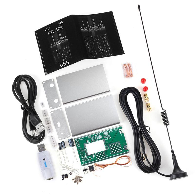 Software de Radio de banda completa 100KHz-1,7 GHz, Kit de receptor de RTL-SDR DIY, ondas cortas de aviación, accesorio de banda ancha