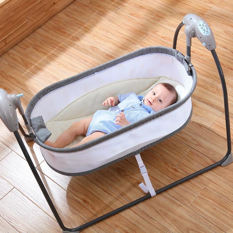New Home Baby Electric Cradle Comfort Rocking Chair Multifunctional Intelligent Sleeping Electric Cradle Crib Cradle Baby Shaker