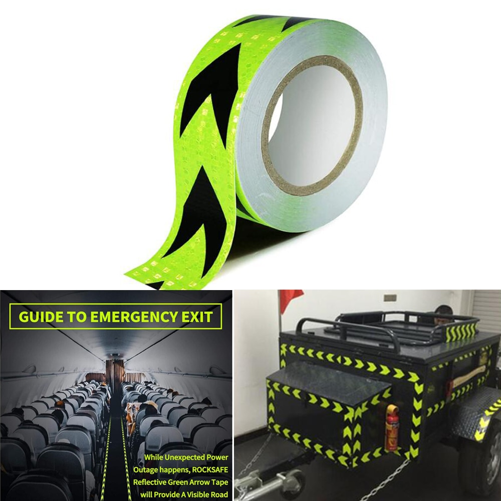 8 pcs set reflective opening sticker access control warning safety car shape car sticker car decoration night light strip 5cmx50m/Roll Car Reflective Tape Car Safety Mark Reflective Arrow Strip Stickers Warning Light Reflector Sticker Warning Tape