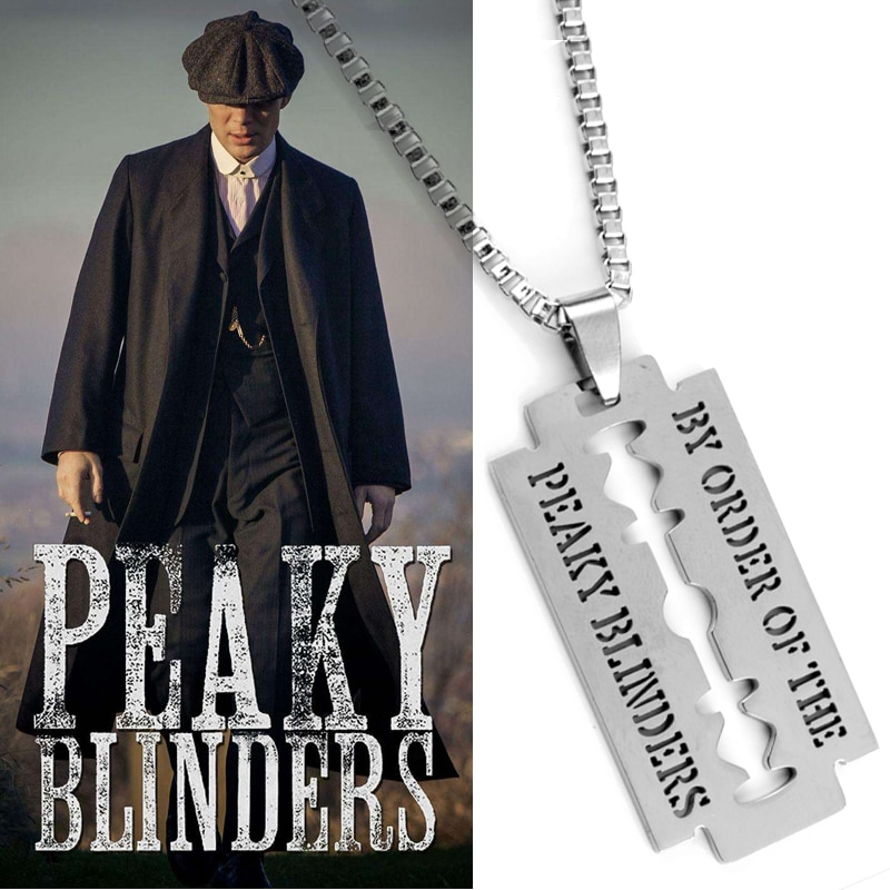 Razor Blade Necklace Movie Jewelry Peaky Blinders blade Pendants&Necklaces Stainless Steel Necklace