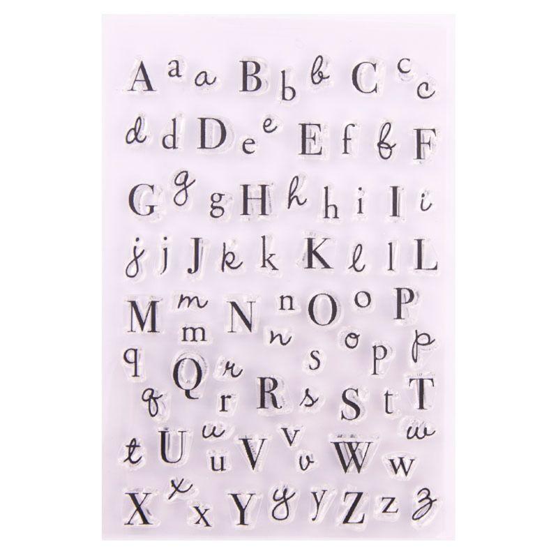 Sello claro de silicona del alfabeto sello DIY álbum de recortes grabado en relieve para fotos álbum de decoración 95AA