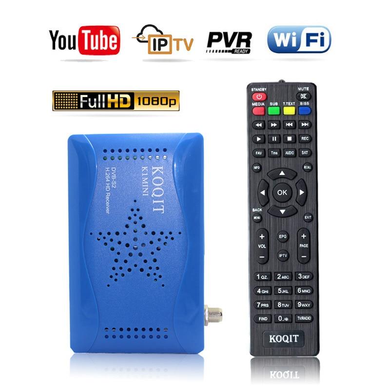 Koqit מקלט DVB-S2 T2-MI טלוויזיה בלווין קולט מקלט ממיר דיגיטלי USB DVB S2 הונאה אוטומטי ביס כוח מפענח WIFI Youtube