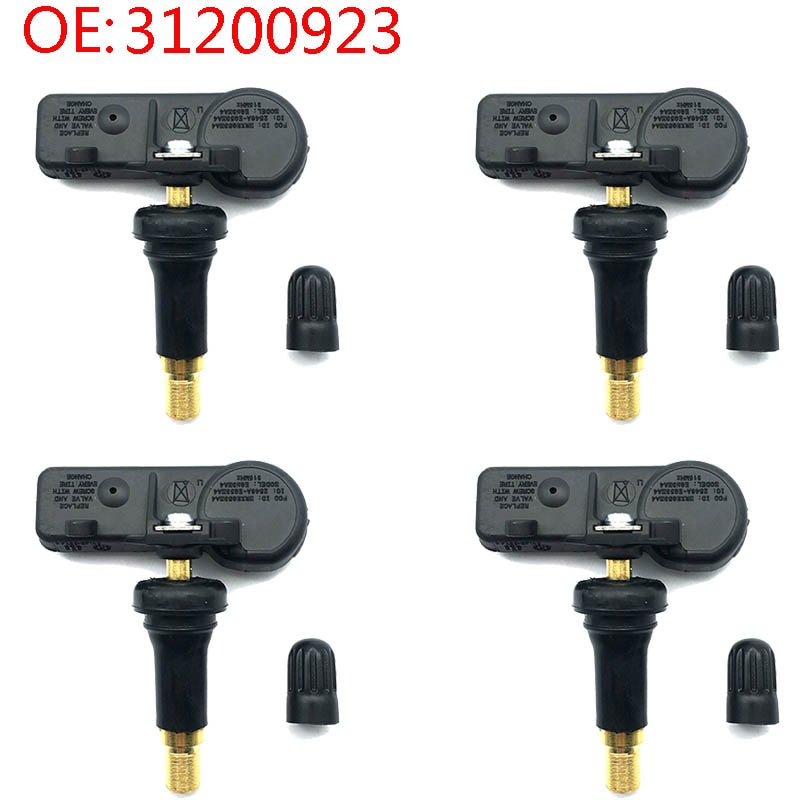 4 Uds 31200923 Monitor de presión de neumáticos de coche Sensor 315Mhz TPMS para Volvo XC90 S60 S80 V70 XC70 1999-2012