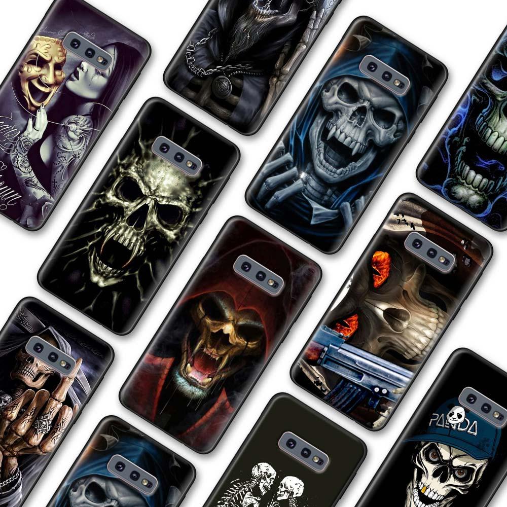 Grim Reaper cráneo esqueleto funda de lujo para Samsung Galaxy S10 S20 más S10 S20 Ultra 5G S8 S9 S10 S20 Nota 8 9 10 Plus