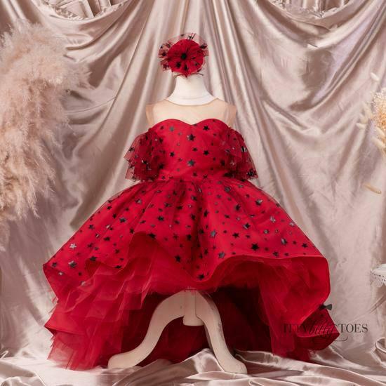 custom made White Flower Girl dress GD2021022003