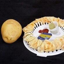 NEW Microwave Oven Fat Potato Chips Maker Apple Fruit Potato Crisp Creative Home Baked DIY Baking Delicious Potato Chip 3pcs