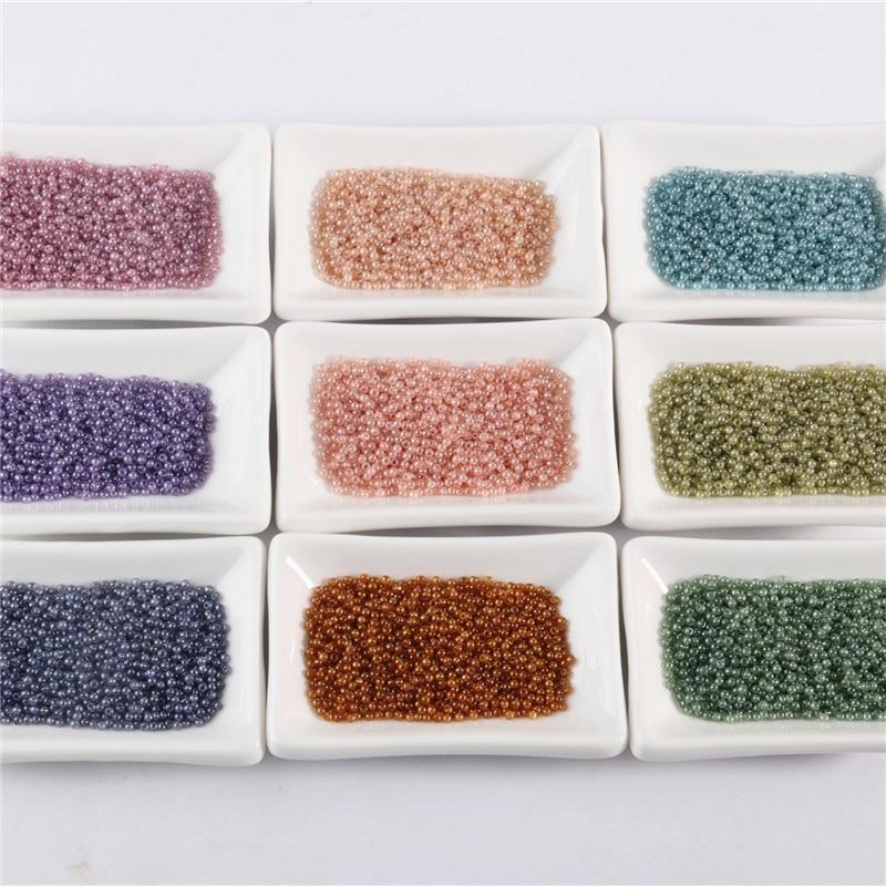 10g/1440 Teile/beutel 2mm Glas Seed Perlen Miyuki Delica Perlen Kleine Runde Perle DIY Schmuck Machen Ohrringe armband Zubehör