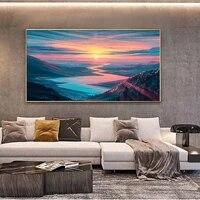 Peinture a lhuile de paysage avec impression detoiles  toile dart couleur  salon  couloir  bureau  decoration murale de la maison