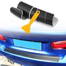 Queue de voiture coffre Protecteur de Pare-chocs Arrière En fibre de Carbone Autocollant pour BMW X5 F15 X6 F16 G30 7 1 2 5 Série G11 X1 X5 F48 218i