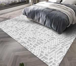 Geometric Style Rugs Floor Stripe Carpet Geometry Printed Black And White Striped Rectangular Mats  40*60cm Entrance Doormats