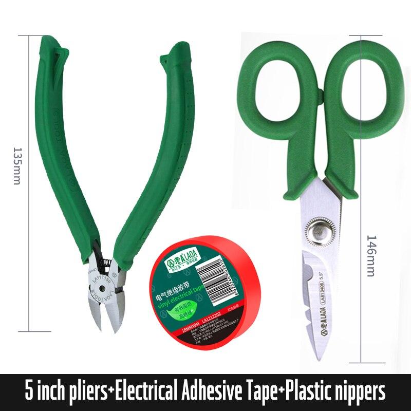De LAOA, Juego de 3 uds. De herramientas, tijeras del hogar de acero inoxidable, tijeras de electricista, herramientas para pelar cables, 50% de descuento