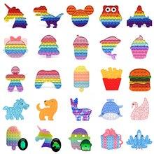 поп ит Pop Fidget Toys Reliver Stress Rainbow Push Bubble Antistress Adults Children Sensory Toys to Relieve Autism Dropshipping
