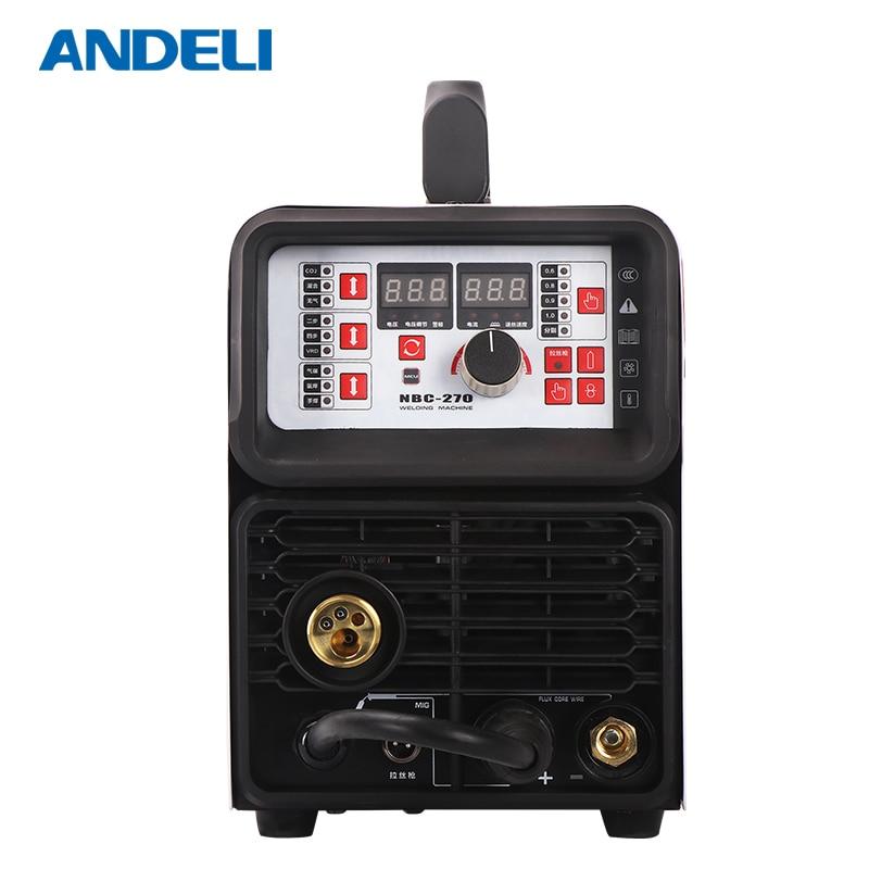 Andeli портативный интеллектуальный сварочный аппарат Co2 Mig Lasser -270, многофункциональный лазерный сварочный аппарат 220 В 5 и 1 maquina de soldar