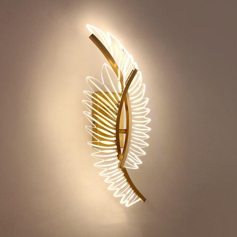 الحديثة الذهب مصمم أضواء الجدار لغرفة النوم السرير الجدار الشمعدان LED مصباح التيار المتناوب 110 فولت 220 فولت المنزل الإضاءة تركيبات إضاءة داخل...