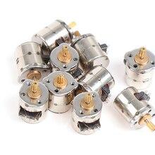 10 pièces Mini 2 phases 4 fils moteur pas à pas Miniature pas à pas avec engrenage petit Micro moteur jouet moteur Offre Spéciale