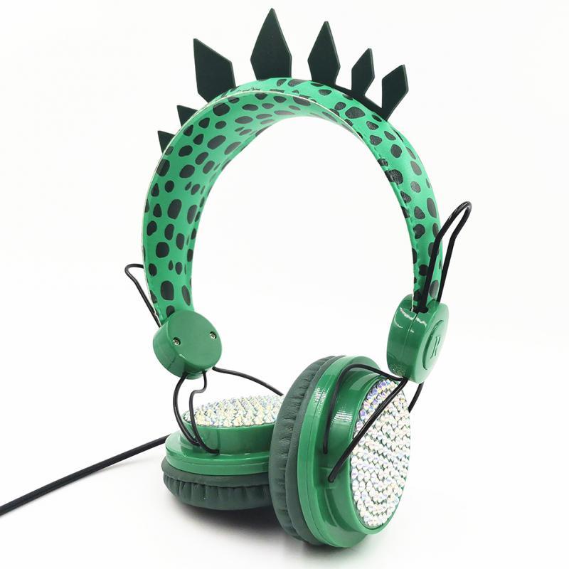 Unicórnio bonito/dinossauro jurássico fone de ouvido crianças fones de ouvido menina fone de ouvido com microfone para transmissão ao vivo youtube vídeo
