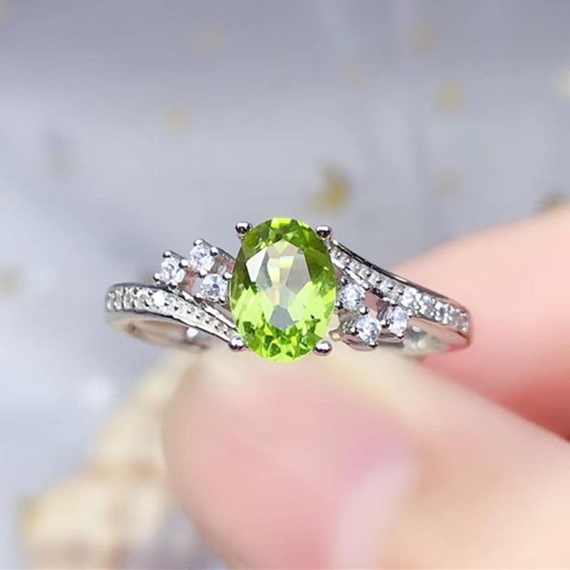 Anillo de peridoto natural LeeChee, joyería fina de plata esterlina sólida 925 real para mujer, regalo de aniversario, gemstonge verde, envío gratis