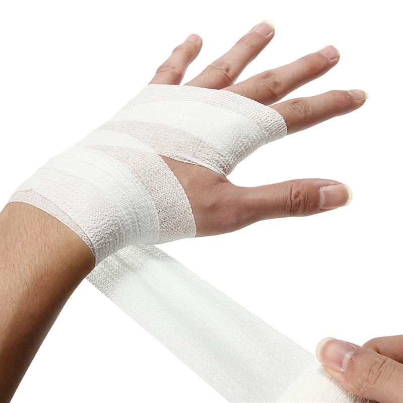 Fita elástica autoadesiva da gaze do tratamento dos cuidados médicos da primeira ajuda da atadura 2.5cm * 4.5m